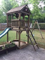 Wooden Play Structure, Swing/slide/house in Cochran, Georgia