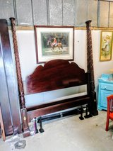 high end 4 post solid cherry Queen bed in Cherry Point, North Carolina