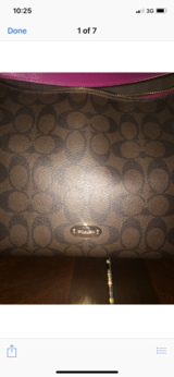 Coach purse in Aurora, Illinois