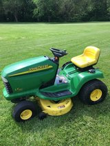 """John Deere LT150 hydro. trans. 38"""" deck 15hp. motor 1 owner clean not beat up ready to work in Sugar Grove, Illinois"""