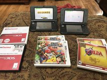 2 Nintendo 3DS xl w/ games in Camp Pendleton, California