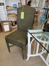 6pc Green Wicker Parsons Chair Set #870-509 in Camp Lejeune, North Carolina