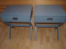 Must Go until July:PCS Sale:Wood End/Side Table/Nighstand Set grau (Great Condition) in Wiesbaden, GE