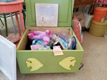 Green Painted Fish Themed Wood Storage Box in Camp Lejeune, North Carolina