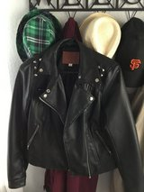 Faux leather jacket juniors M in Travis AFB, California