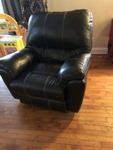Black leather rocker/ recliner in Naperville, Illinois
