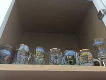 European and USA shot glasses in Fort Sam Houston, Texas
