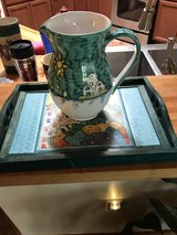 Italian hand painted pitcher with serving tray in Alamogordo, New Mexico