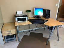 IKEA office desk, storage cabinet and rolling file cabinet in Naperville, Illinois