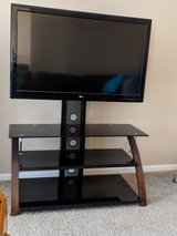 TV stand with swivel mount in Schaumburg, Illinois