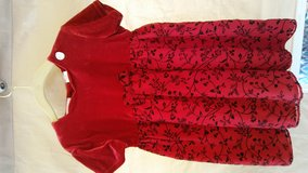 Red Velvet Dress size 3T in Lockport, Illinois