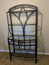 Kitchen table, 4 chairs & baker's rack in Naperville, Illinois