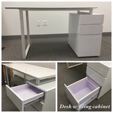 Desk with Filing Cabinet in Chicago, Illinois