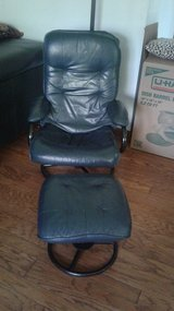 Leather chair and ottoman in Schaumburg, Illinois