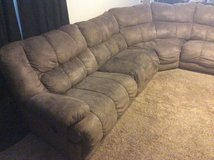 5 Piece  Sectional w/ Chaise Lounge ~ MicroSuede in Camp Lejeune, North Carolina