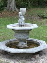 garden fountain in Leesville, Louisiana