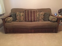 Super Comfy Solid Wood Futon in Conroe, Texas
