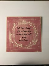 Metal Sign pink from Hobby Lobby in Oswego, Illinois