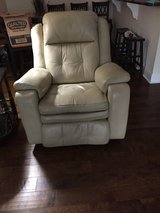 Power Leather Sofa (with recliner at each end) and Chair (recliner & rocker) in Byron, Georgia