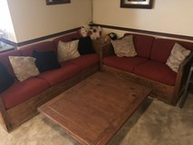 Sofa Set - This End Up - 3 piece set including wood table - MOVING SALE!!! in Lockport, Illinois