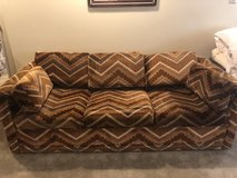Sofa with Pull Out Bed- - Moving Sale!!! in Lockport, Illinois