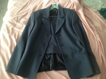 Benetton woman's gray suit, size M in Shorewood, Illinois