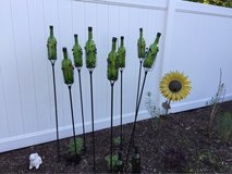 Whimsical Wine Bottle Tiki Torches in Lockport, Illinois