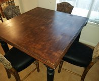 Height dinning Table with 4 chairs in Kingwood, Texas