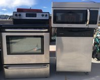 LOCAL PICKUP ONLY FRIGIDAIRE 3 PIECE MATCHING STAINLESS STEEL KITCHEN SET - NEED GONE BY MONDAY in Huntington Beach, California