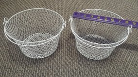 Set of 2 White Wire Baskets in Westmont, Illinois