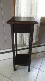 Dark wood plant stand, vintage in Naperville, Illinois