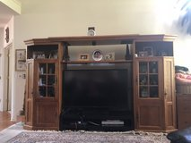 TV Cabinet - Large TV Wood Console Beautiful!! in Lockport, Illinois