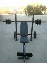 golds gym xr - 6.1 bench & weights in Yucca Valley, California