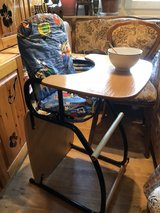 New condition.,sturdy high chair , convertible to a regular table with chair in Ramstein, Germany