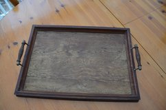 Old wooden serving tray. Believe it could be about 1910's - 1920's in Lakenheath, UK