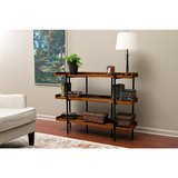 OneSpace Modern Wood and Steel Cherry 3-Shelf Display in Lockport, Illinois