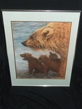 Momma Grizzly Bear & 3 Cubs ~ Masterful Pastel Artwork Original Signed in Batavia, Illinois