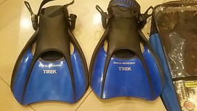 U.S. DIVERS Premium Snorkel gear/ TREK set with Back Pack and mask  / FIN and Carry BaG in Okinawa, Japan