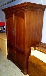 TV Cabinet Armoire (heavy nice wood) in Spring, Texas