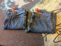 2 pairs of men's 28 X 30 Arizona original straight denim jeans in Fort Riley, Kansas