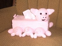 Pig and Babies Tissue Box Cover in Belleville, Illinois