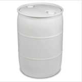Three 55 gallon white plastic water barrels in Elgin, Illinois