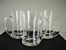 Vintage Hand Blown Crystal Beer Mugs (3) in San Antonio, Texas