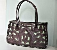Leaders in Leather Hand Tooled / Cut Out / Whip Stitched Handbag in Fort Sam Houston, Texas