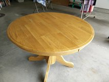 Round Oak Dining Table/obo in DeKalb, Illinois