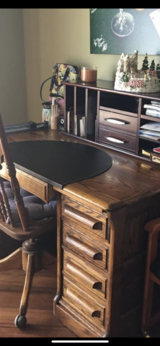 Oak desk in Vista, California
