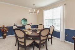 New Dining room table with 6 chairs solid wood beautiful in Quantico, Virginia