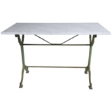 """French Bistro Table with Marble Top- 1"""" thick beveled marble and wrought iron table legs in Macon, Georgia"""