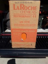 LaRoche Chemicals R-11 Refrigerant 30lbs. Tank-Full Never Used-Virgin in Box in Oswego, Illinois