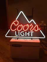Coors light neon sign in New Lenox, Illinois